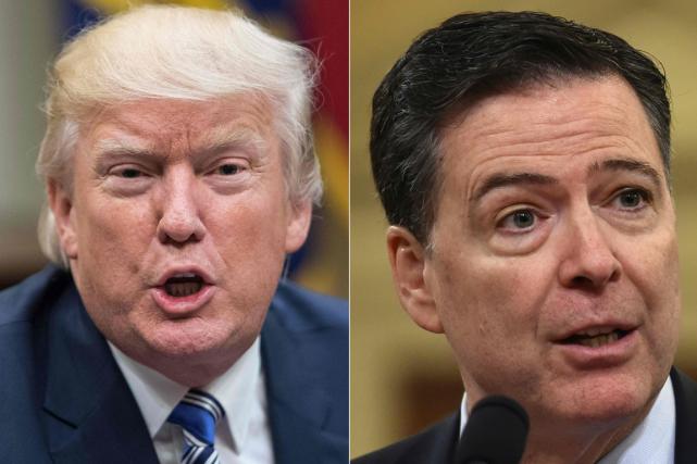 Donald Trump et James Comey... (Photos AFP)