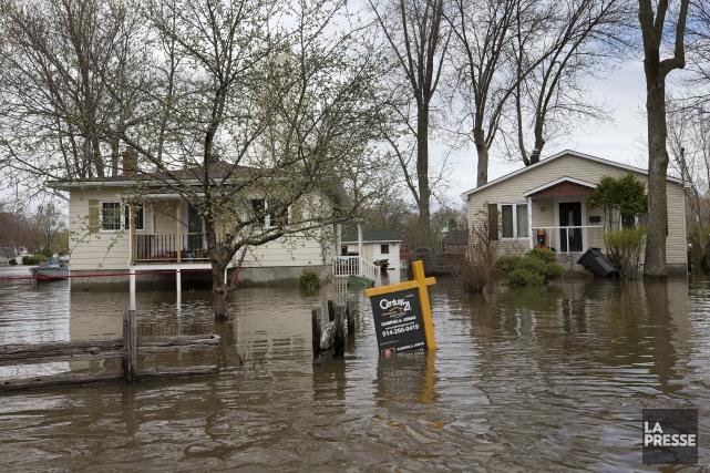 PHOTO ROBERT SKINNER, LA PRESSE-09/MAI/2017--ACTUALITES-Inondations a l'Ile Mercier... (Archives La Presse, Robert Skinner)