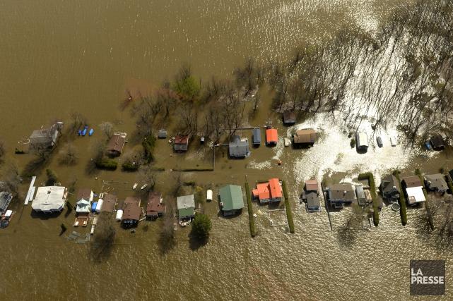 Dans les 278 municipalités qui ont été touchées... (Photo Bernard Brault, La Presse)