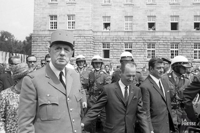 Le 24 juillet 1967, le président français Charles... (Archives)