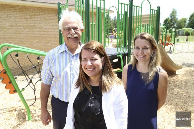 On peut désormais compter sur un parc-école amélioré... (Janick Marois, La Voix de l'Est)