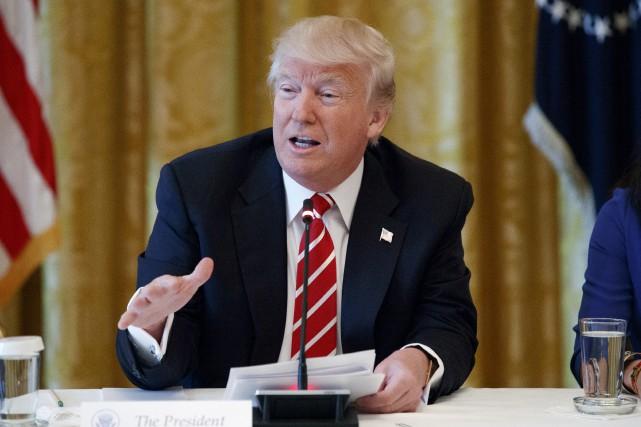 Jeudi, Donald Trump a assuré sur Twitter qu'il... (AP, Evan Vucci)