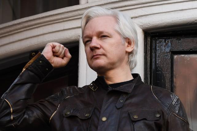 Julian Assange pourrait être poursuivi par les États-Unis... (PHOTO Julian Assange , ARCHIVES AFP)