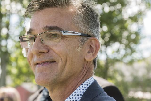 Sylvain Raby sera le candidat du Renouveau sherbrookois... (Spectre Média, Frédéric Côté)