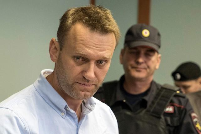 Alexeï Navalny purge actuellement une peine de 25jours... (PHOTO ANDREY BORODULIN, ARCHIVES AGENCE FRANCE-PRESSE)
