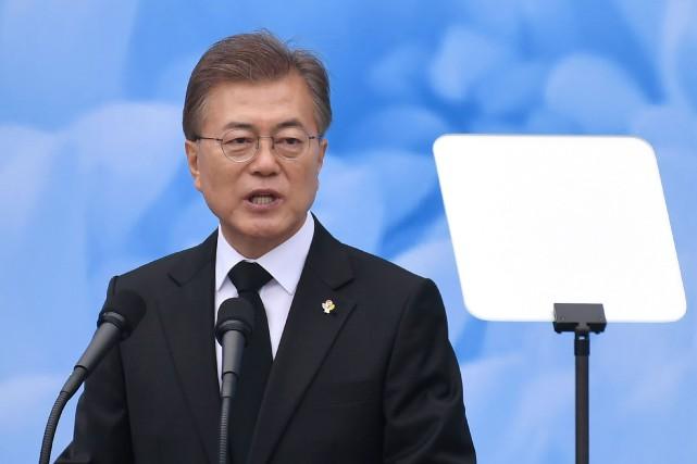 Le président de la Corée du Sud, Moon... (Archives AFP, Jung Yeon-Je)