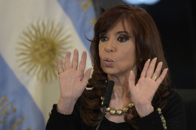 Cristina Kirchner... (Archives AFP)