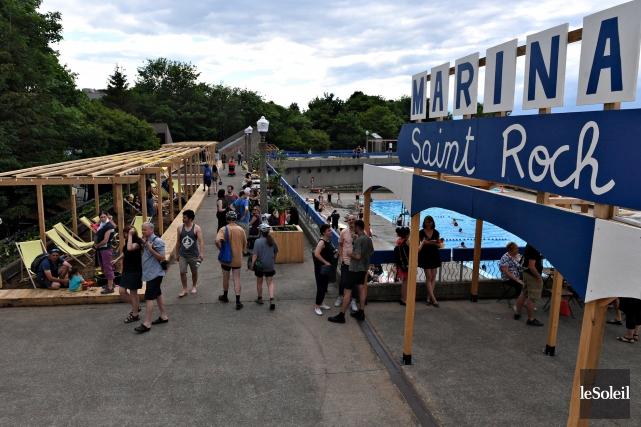 Le projet d'aménagement de la Marina Saint-Roch a... (Le Soleil, Pascal Ratthé)