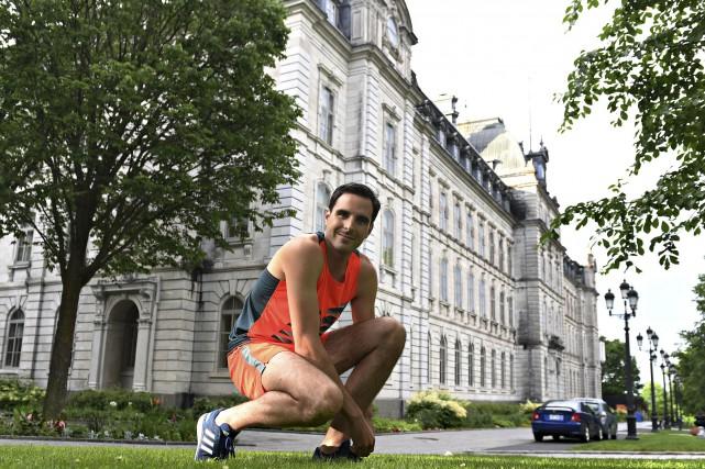 Même s'il est un habitué des ultramarathons, Olivier... (Le Soleil, Pascal Ratthé)