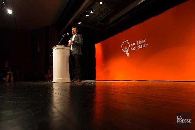 Gabriel Nadeau-Dubois, co-porte-parole de Québec solidaire.... (PHOTO OLIVIER JEAN, ARCHIVES LA PRESSE)