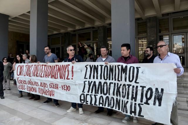 Afin d'éviter la présence indésirable de manifestants lors... (AFP, Sakis Mitrolidis)