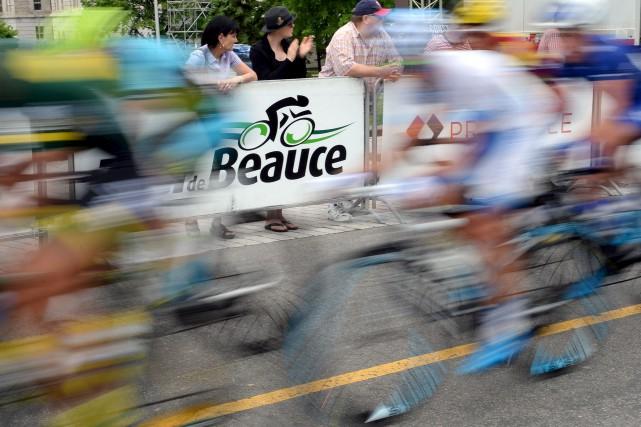 Lors du passage à Québec du Tour de Beauce, le 17 juin, Erick Labbé a imaginé... (Le Soleil, Erick Labbé)