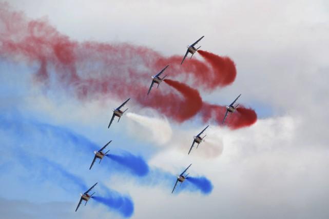 La Salon international de l'aéronautique du Bourget s'est... (AFP, Éric Piermont)
