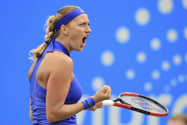 Petra Kvitovadisputait son deuxième tournoi depuis qu'elle a... (AP)