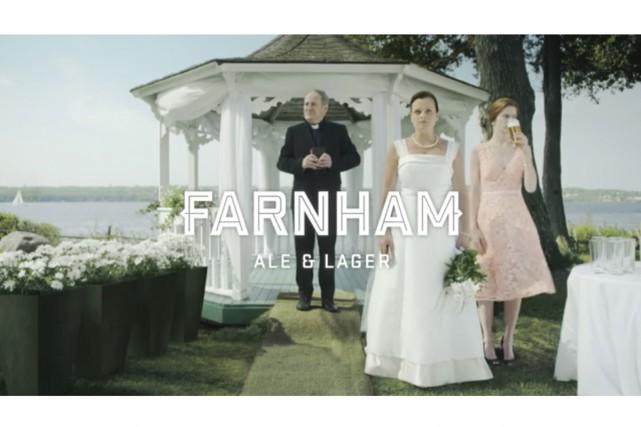 La publicité signée lg2 de la microbrasserie Farnham... (capture d'écran)