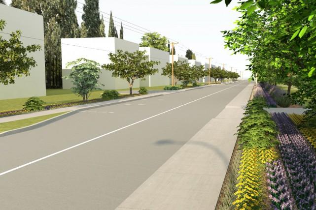 Le grand chantier de la rue Saint-Maurice, dans le secteur Cap-de-la-Madeleine,...