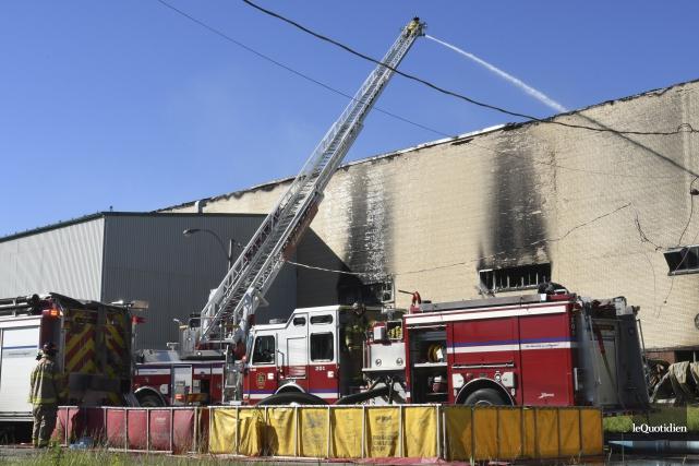 Les pompiers ont une fois de plus été... (Photo Le Quotidien, Michel Tremblay)