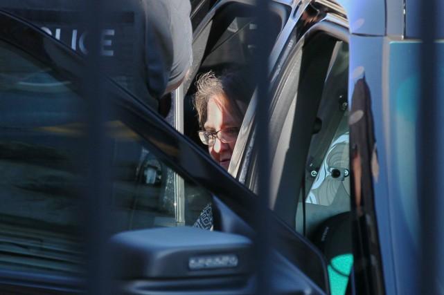Elizabeth Wettlaufer à son arrivée au palais de... (Photo Dave Chidley, La Presse Canadienne)