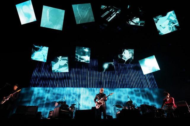 Radiohead en spectacle au festival Coachella en 2012.... (PhotoDavid McNew, archives Reuters)