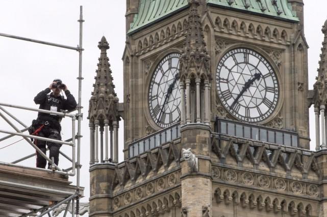 La colline du Parlement, à Ottawa, représente un... (Photo Paul Chiasson, La Presse)