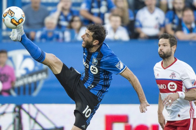 Le joueur de centre de l'Impact, Ignacio Piatti,... (La Presse canadienne, Paul Chiasson)