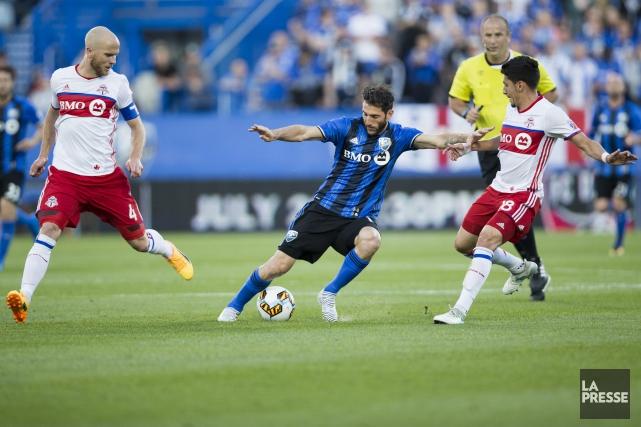 L'Impact de Montréal et le Toronto FC s'affrontent... (Photo Olivier Jean, La Presse)