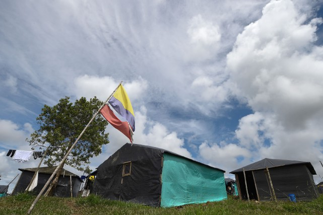 Un camp des FARC, à Mesetas.... (PHOTO AFP)