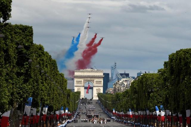 Défilé du 14 juillet 2016 sur les Champs-Élysées.... (ARCHIVES AFP)
