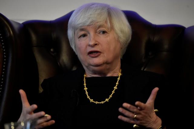 Janet Yellen, présidente de la Banque centrale américaine... (PHOTO REUTERS)