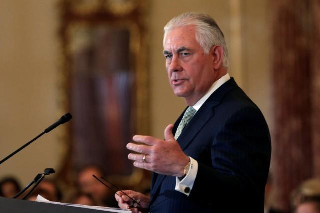 Le secrétaire d'État américain Rex Tillerson... (PHOTO Yuri Gripas, REUTERS)