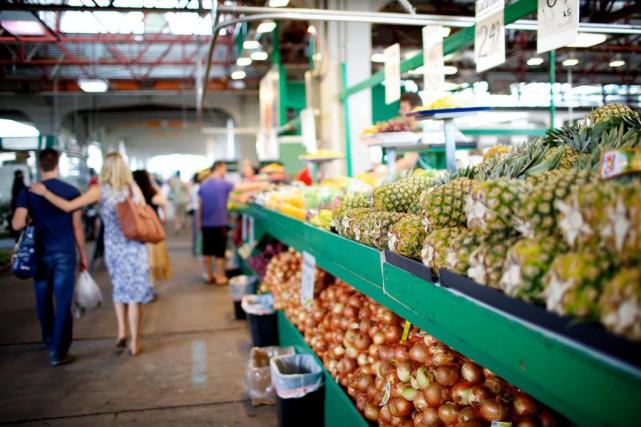 Les fruits et légumes du marché Jean-Talon qui... (PhotoSARAH MONGEAU-BIRKETT, Archives LA PRESSE)