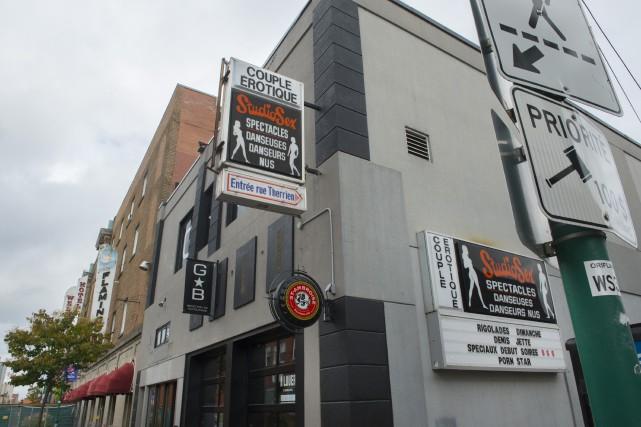 Le bâtiment du StudioSex, du 92, rue Wellington Sud, devrait devenir la... (Maxime Picard)