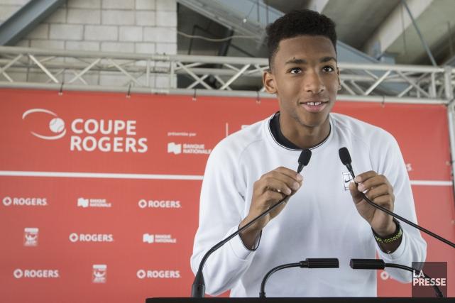 Le Québécois Félix Auger-Aliassime vient de remporter un... (Photo Ivanoh Demers, La Presse)