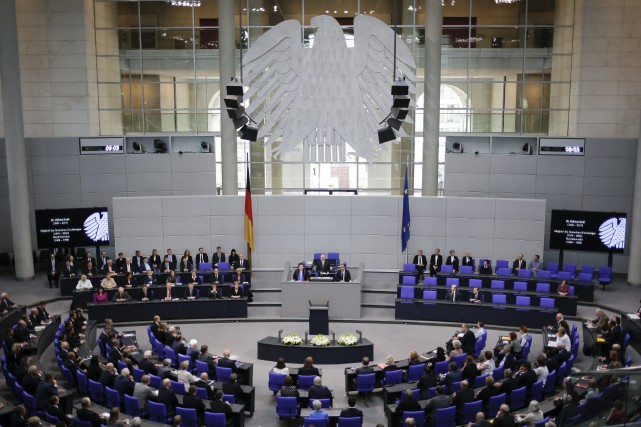 En l'état du rapport de force au Bundestag,... (PHOTO AP)
