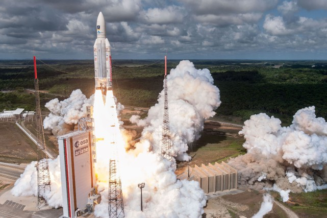 La fusée Ariane 5... (PHOTO ARCHIVES AFP)