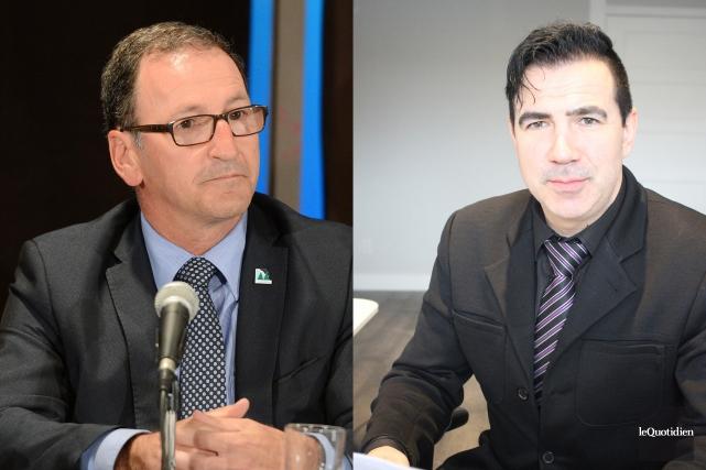 Le maire de Dolbeau-Mistassini, Richard Hébert, et le... (Archives Le Quotidien)