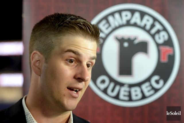 Benoît Desrosiers, le nouvel entraîneur adjoint des Remparts,... (Le Soleil, Erick Labbé)