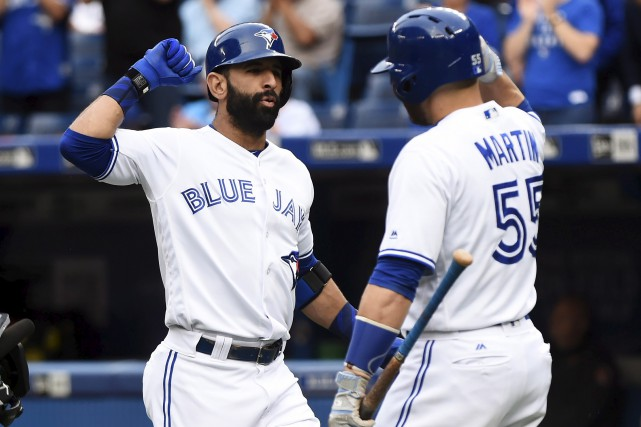 Jose Bautista a frappé un circuit au champ... (Photo PC)