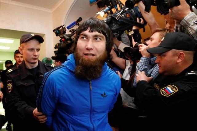 L'un des cinq accusés, Anzor Goubachev.... (Photo Sergei Karpukhin, Reuters)