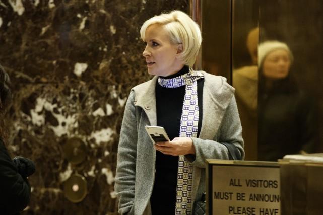Mika Brzezinski venait jeudi matin de critiquer l'administration... (Archives AP)