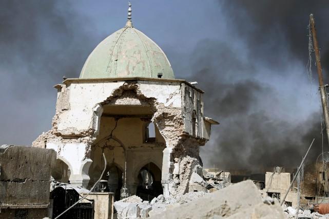 Située dans le Vieux Mossoul, la mosquée Al-Nouriétait... (PHOTO REUTERS)