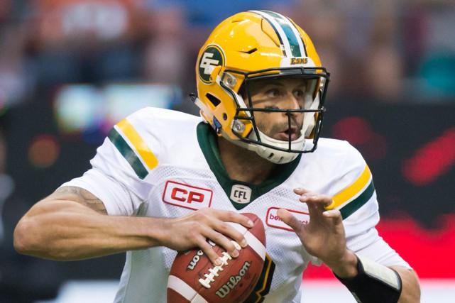 Mike Reilly, des Eskimos d'Edmonton,a été le quart... (Photo Darryl Dyck, PC)