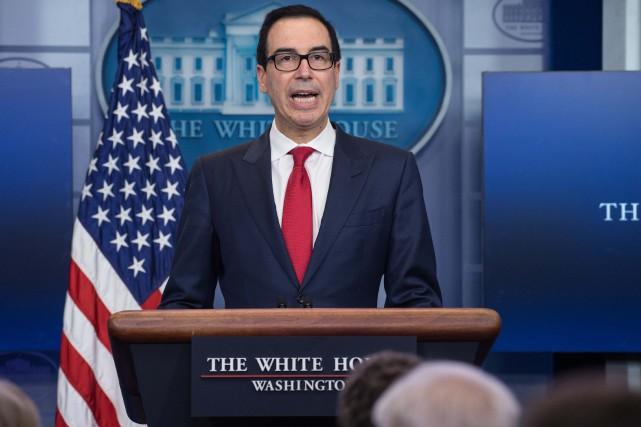 Le secrétaire au Trésor Steven Mnuchin a assuré,... (PHOTO AFP)