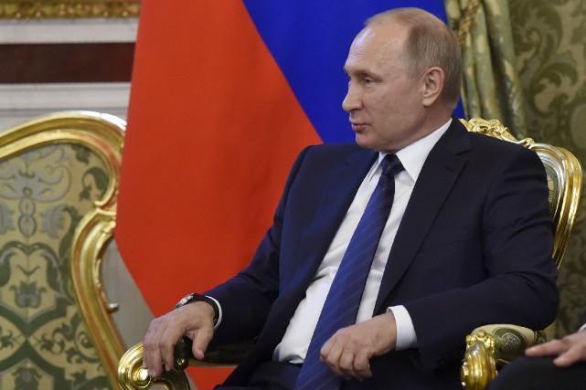 Le président russe Vladimir Poutine, qui considère que... (AP, Natalia Kolesnikova)