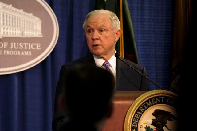 Le procureur général des États-Unis, Jeff Sessions, a... (PHOTO REUTERS)