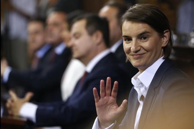 Ana Brnabic n'est affiliée à aucun parti et... (PHOTO AP)