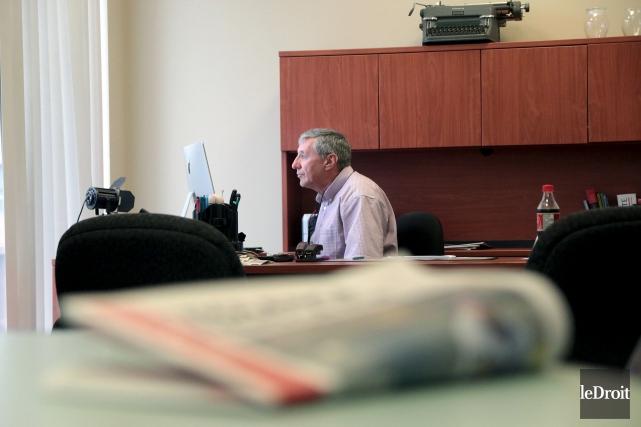 Jean Gagnon dirigera son dernier journal vendredi. Après... (Etienne Ranger, Le Droit)