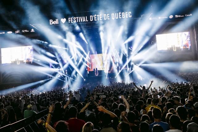 Le Festival d'été de Québec avait déjà été... (Photo fournie par Solotech, Renaud Philippe)