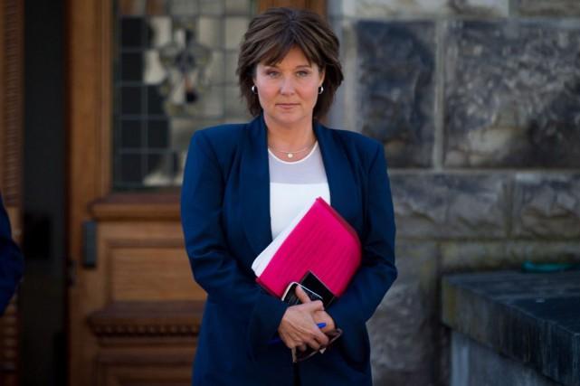 La première ministre sortante de la Colombie-Britannique Christy... (PHOTO Darryl Dyck,  LA PRESSE CANADIENNE)