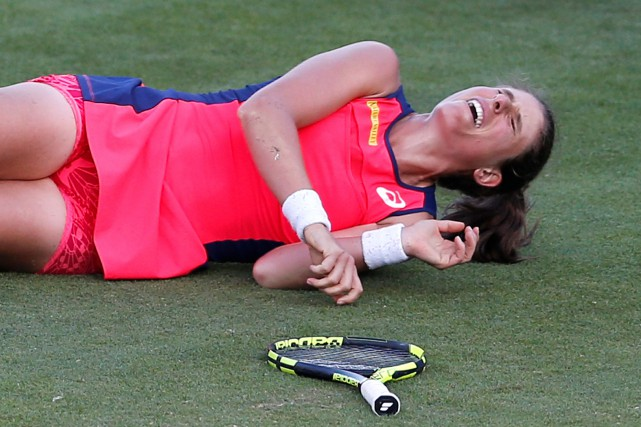 Johanna Konta (photo) avait lourdement chuté sur le... (Photo Matthew Childs, Reuters)